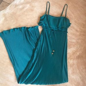 Juicy Couture Ruffle Pleat Maxi Dress
